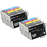 E-Z Ink (TM) Remanufactured Ink Cartridge Replacement For Epson 127 Extra High Yield (4 Black 2 Cyan 2 Magenta...