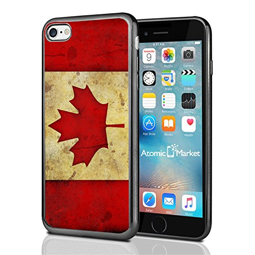 Canada Canadian Flag Grunge For Iphone 7 Case Cover By Atomic Market (Canada Iphone 4 Case compare prices)