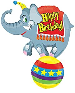Mayflower Distributing Circus Elephant Jumbo Foil Balloon Party Accessory