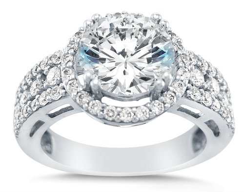 check - White Gold Cubic Zirconia Wedding Rings