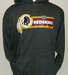 Washington Redskins Big and Tall Fleece Hoodie (Charcoal) by Legend Sports Direct