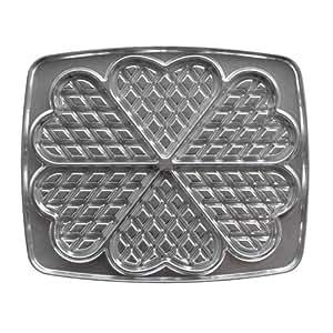 Lagrange 030521 Gaufres Coeur Plaques en fonte d'aluminium pour gauffrier (Compatible avec les références: 039111, 039211, 039411, 039511)