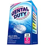 120 Denture Cleanser Tablets -(4 Months Supply)- Removes Stain, Plaque & Bad Breath from False Teeth, Retainer, Mouthguard & Removable Dental Appliances. 100 % Satisfaction Guaranteed!