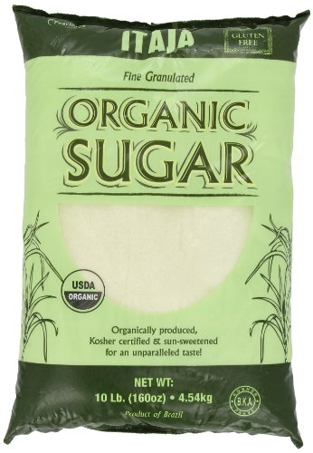 Itaja Organic Fine Granulated Sugar, 10-Pound (854447003038)