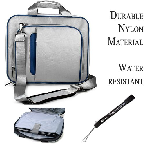 Click to buy Pro Messenger Bag Soft Nylon Carrying Case (Blue Silver) For Asus Eee Slate EP121 Notebook 12.1 inch Screen - From only $27.95