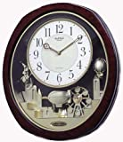 Joyful Land Clock in Brown Finish