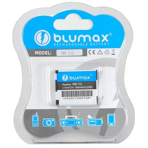Original Blumax Akku NB-11L 600 mAh passend für Canon PowerShot A4000 IS / A3400 IS / A2400 IS / A2300 / IXUS 240 HS / 125 HS