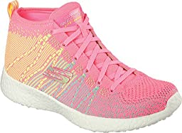 Skechers Women\'s Burst Sweet Symphony High Top,Hot Pink/Multi,US 7.5 M