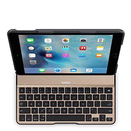 国内正規代理店品ベルキン・BELKIN QODE iPad Air 2 対応 Ultimate Lite キーボードケース(ブラック/ゴールド) F5L190QEBGB