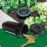 """""""ABC Products"""" - Hide-A-Key ~ Looks Like A - Lawn Sprinkle Head - Place in Your Flower Bed and Etc. (New and Improved - With Key Holding Latches)."""