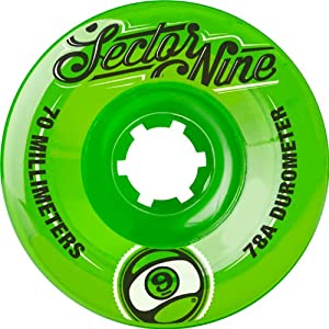 Buy Sector 9 Top Shelf Nine Balls Skateboard Wheel, Green, 70mm 78A by Sector 9
