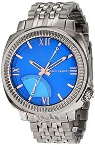 Vince Camuto Men's VC/1002BLDS The Veteran Blue Dial Multi-Function Silver-Tone Bracelet Watch