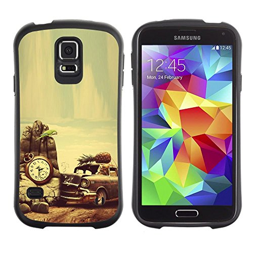 Pulsar iFace Series Soft TPU Skin Bumper Case Cover for Samsung Galaxy S5 , Retro Vintage Old School Car Vignette (Galaxy S5 Old School Cars Case compare prices)
