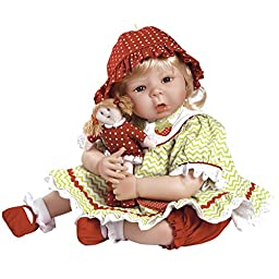 Paradise Galleries Sweet Berry Baby, 20 inch Realistic Baby Doll in Silicone-Like Flex-Touch Vinyl