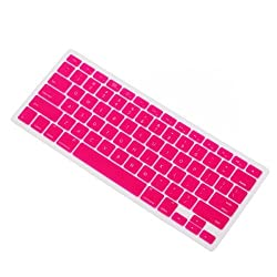 IVEA Pink Keyboard Silicone Cover Skin for New Aluminum Unibody Macbook Pro 13, 15, 17 inches - FIT ALL