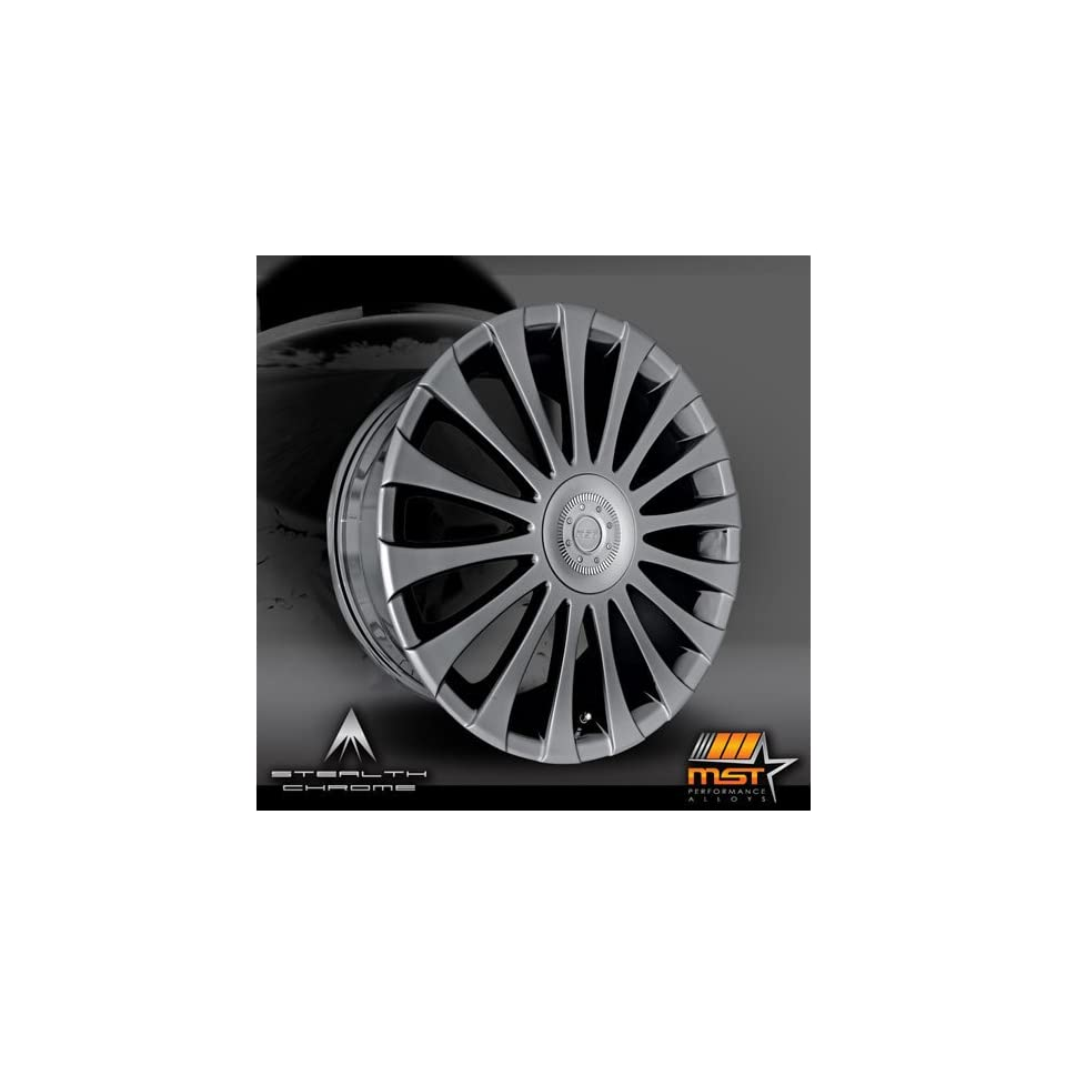 MST 511 19 Black Chrome Wheel / Rim 4x100 & 4x4.5 with a 42mm Offset and a 72.69 Hub Bore. Partnumber 511 9816