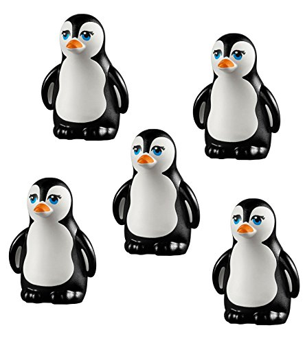 LEGO LOT 5 pcs NEW PENGUIN South Pole Arctic Winter Bird Animal Figure Minifig