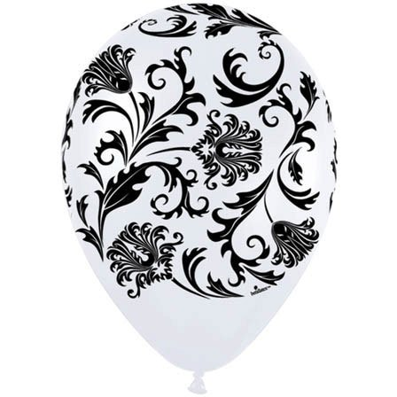 "11"" Damask Around Pearl White"