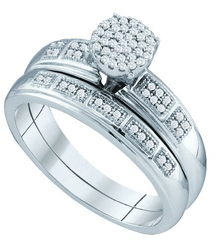 0.20CTW DIAMOND MICRO PAVE BRIDAL SET