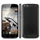 Android 6.0搭載・4G LTE SIMフリー 2スロット搭載 MTK6753 ARM Cortex-A53 Octa Core, 1.5GHz スマホ・500万+1300万画素 カメラ・5.5インチHD IPS液晶★DOOGEE T6 Pro ★Bluetooth・GPS・OTA・OTG ・Smart gesture・Smart wake-up function搭載●6250mAh大容量バッテリー 急速充電 ユニークなV字型フレーム 9.9ミリメートル薄い 金属ブラシ付き+格子パターンバックカバー 日本語対応 (ブラック)