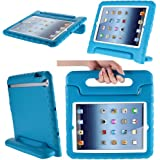 i-Blason ArmorBox Kido Series Light Weight Super Protection Convertable Stand Cover Case for Apple iPad 4 iPad 4G iPad 4th Generation iPad with Retina Display iPad 2, The New iPad 3 (Blue)