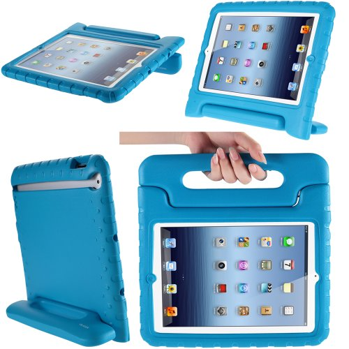 iPad Mini 3 Case, i-Blason Apple iPad Mini / iPad Mini 3 / iPad Mini with Retina Display Case, ArmorBox Kido Series Light Weight Super Protection Convertible Stand Cover for Kids Friendly (Blue)