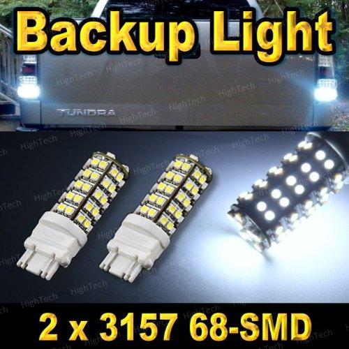 Pair 3157 68-Smd Xenon White Led Car Backup / Back Up Reverse Light Bulbs 3156 3057