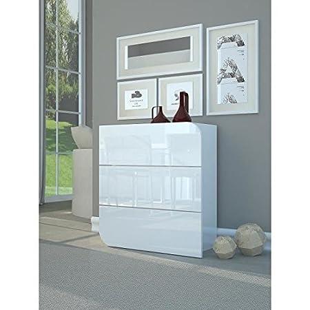 Goccia cómoda 77cm blanco lacado brillante