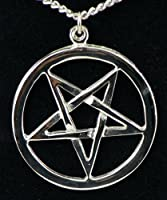 Inverted Woven Pentagram Necklace Goth Black Metal  from Dysfunctional Doll