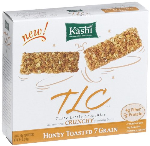 Kashi TLC Crunchy Granola Bar,  Honey Toasted 7 Grain, 8.4-Ounce Box (Pack of 12)