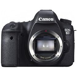 Canon デジタル一眼レフカメラ EOS 6Dボディ 約2020万画素フルサイズCMOSセンサー DIGIC5 (プラス) EOS6D
