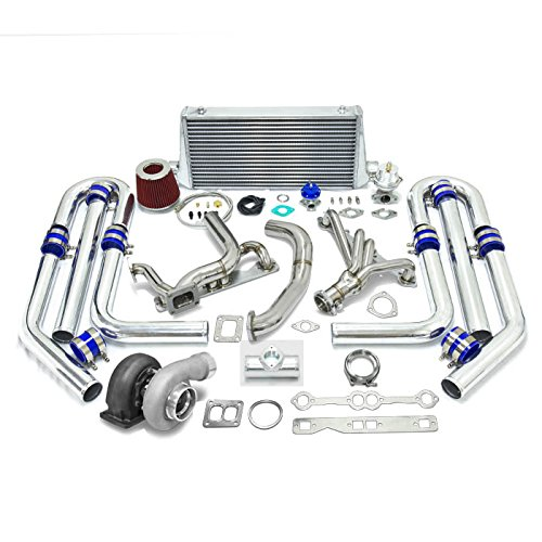 High Performance Upgrade GT45 T4 10pc Turbo Kit - Chevy Small Block SBC Engine (Cheap Blow Off Valve compare prices)