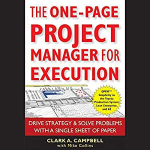 The One-Page Project Manager for Execution Audiobook