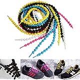 CAMTOA Lacets élastique sans attache éviter desserrer Pratique à Chaussures Sport Course Running Fitness