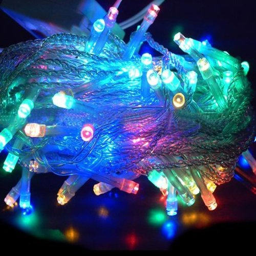Adsled Led Lights String Rope Lights 10M 100Led Male Female Plug Synchronous Flashing