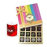 Valentine Chocholik Belgium Chocolates - Ultimate Dark Truffle Collection With Love Mug