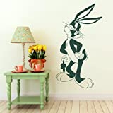 Bugsy Bunny Nursery Wall Sticker / Large Baby Decor / Nursery Wall Transfer bn66