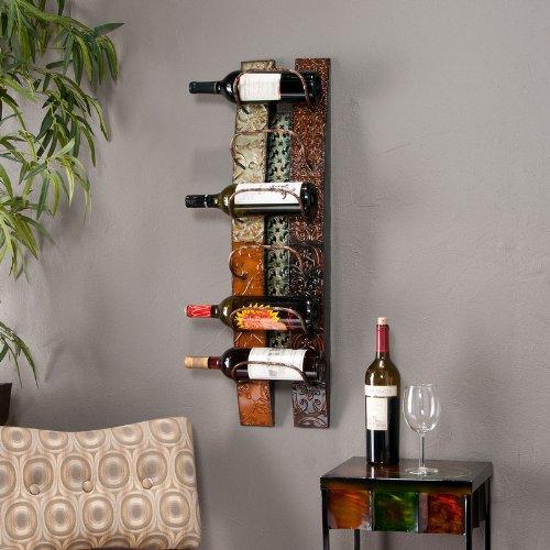 Southern Enterprises Adriano Wall-Mount Wine Storage
