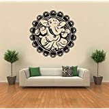 Hoopoe Decor Lord Ganesha In A Flower Wall Stickers And Decals - B00XEVYJ0Y