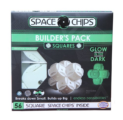 Monkey Business Sports Space Chips Builder Pack Glow In The Dark - Square (56 Pieces)