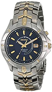 Seiko Men's SKA402 Stainless Steel Kinetic Watch