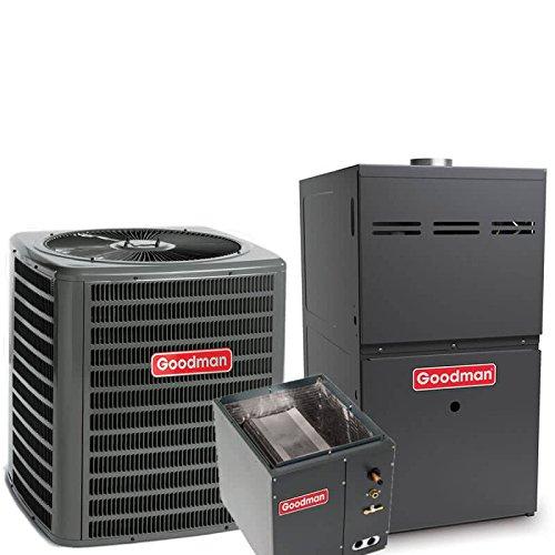 2.5 Ton Goodman 14 SEER R410A 80% AFUE 60,000 BTU Upflow Gas Furnace Split System (R410a Split System compare prices)