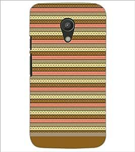 PrintDhaba Tribal pattern D-1805 Back Case Cover for MOTOROLA MOTO G2 (Multi-Coloured)