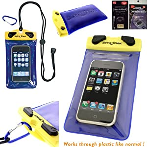 Motorola Droid RAZR MAXX HD DryPak Brand Waterproof Case. Great for the beach, Swimming, Boating, Canoeing and more. Comes with Antenna Booster and Radiation Shield.