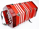 Cherrystone Accord�on concertina 2 x 10 boutons rouge