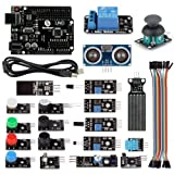 SainSmart 20 Sensor Modules + UNO R3 Education Starter Kit with 1 Relay Module + HC-SR04 Distance Sensor + PDF Tutorial Instruction for Arduino UNO MEGA2560 R3 Duemilanove 2013 Robot