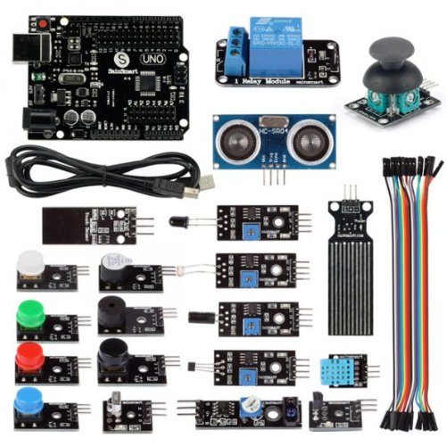 Sainsmart 20 Sensor Modules + Uno R3 Education Starter Kit With 1 Relay Module + Hc-Sr04 Distance Sensor + Pdf Tutorial Instruction For Arduino Uno Mega2560 R3 Duemilanove 2013 Robot