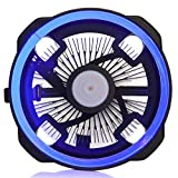 GOLDEN FIELD LY CPU Cooler CPU Fan Heatsink PC Radiator Air Cooler Low Noise Halo LED Lighting Ray Heatsink for Intel & AMD(Blue) (Color: LY-BL, Tamaño: LY Series)