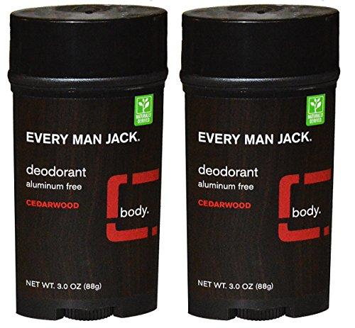 Every Man Jack Aluminum Free Deodorant Cedarwood Pack of 2 (Aluminum Free Deodorant For Men compare prices)