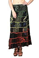 Shararat Women's Skirt (9029_Multi Color_Free Size)